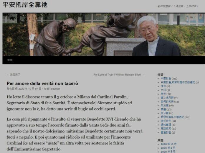 Cardenal Zen Parolin mintiendo