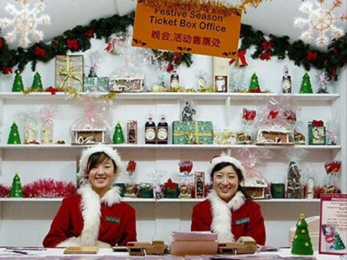 China prohíbe la Navidad pero lucra