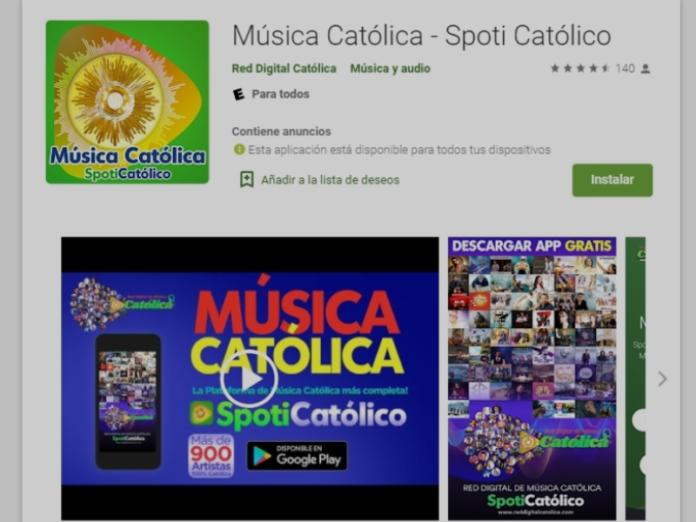 Lanzan aplicación de música católica