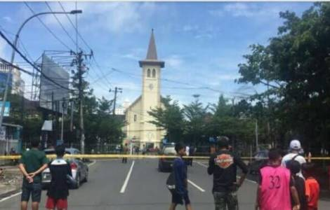 Matrimonio islamista atenta contra catedral