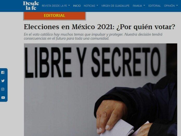 Elecciones en México: «Votante católico