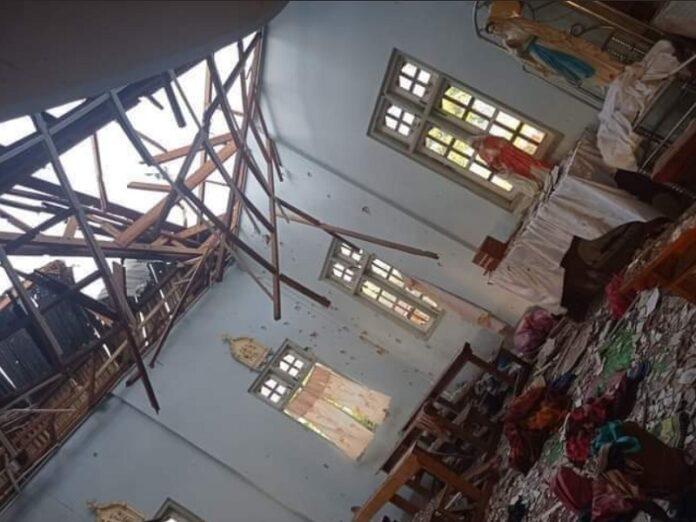Ejército de Birmania realiza bombardeo